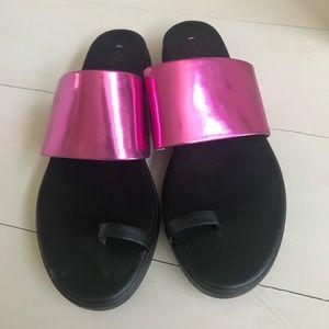 Via Spiga metallic platform sandals